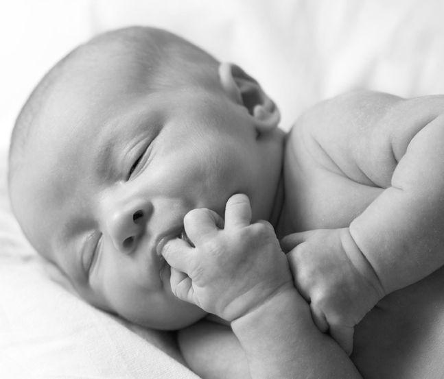 Power birthing Baby sleeping